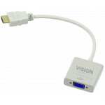 Vision TC-HDMIVGA cable interface/gender adapter HDMI VGA Weiß