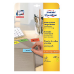Avery L6035-20 self-adhesive label Yellow Rounded rectangle Removable 480 pc(s)