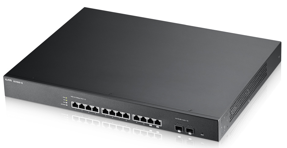 ZyXEL XS1920-12 Managed L2 10G Ethernet (100/1000/10000) 1U Black