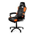 Arozzi Black & Orange Enzo Adjustable Ergonomic Motorsports Inspired Desk Chair