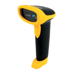Wasp WWS500 Freedom Cordless Barcode Scanner CCD Yellow