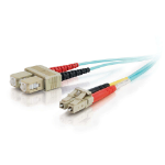 C2G 85532 2m LC SC Turquoise fiber optic cable