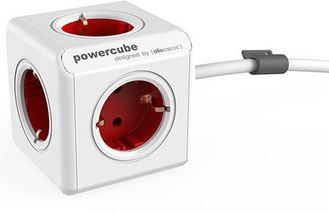 Microconnect GRUCUBE2-3 surge protector 3 AC outlet(s) 3 m Red,White