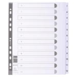 Guildhall DIVIDERS MYLAR A4 MAXI WHITE 1-12