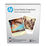 HP Social Media Snapshots Removable Sticky Photo Paper-25 sht/4 x 5 in printing paper