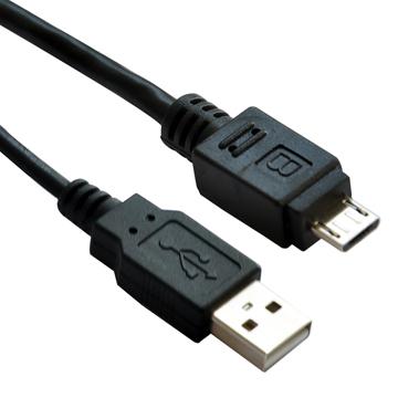 Astrotek 3m USB 2.0 A - Micro-USB B M/M USB cable USB A Male Black