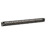 Tripp Lite 24-Port 1U Rack-Mount STP Shielded Cat6 /Cat5 Feedthrough Patch Panel, RJ45 Ethernet