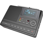 Sangean CL-100 Portable Digital Black Clock/Portable Radio