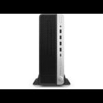 HP ProDesk 600 G4 8th gen Intel® Core™ i7 i7-8700 8 GB DDR4-SDRAM 1000 GB HDD Black,Silver SFF PC