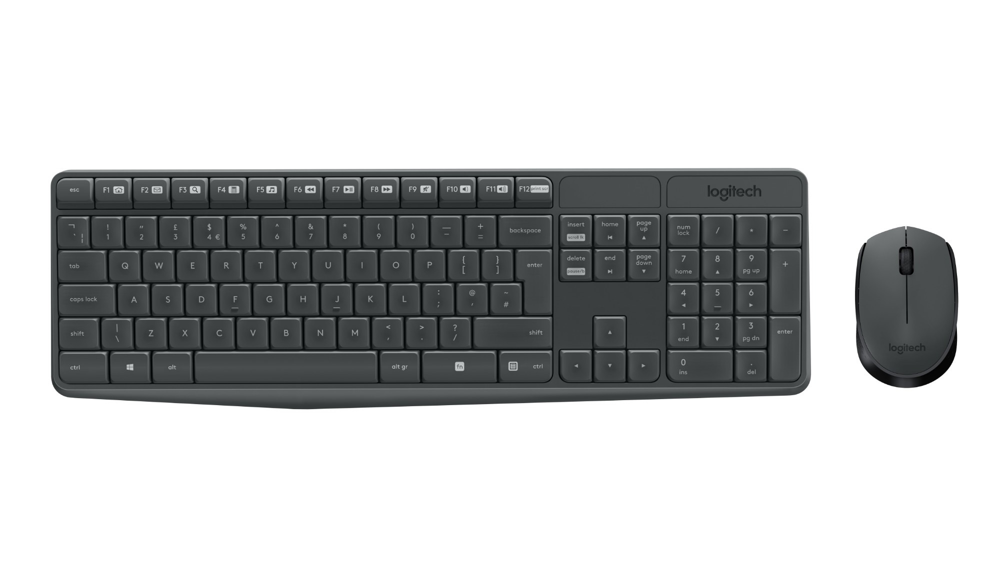 MK235 WIRELESS KEYBOARD / MOUSE GREY-FRA-2.4GHZ-CENTRAL          IN