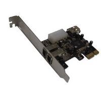 DYNAMODE (PCIX3FW) 3-Port FireWire Card PCI Express 2 x Ext 1 x Int Retail