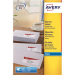 Avery J8159-25 White addressing label