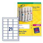 Avery White Heavy Duty Laser LabelsZZZZZ], L7060-20
