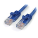 StarTech.com Cat5e patch cable with snagless RJ45 connectors – 10 ft, blue