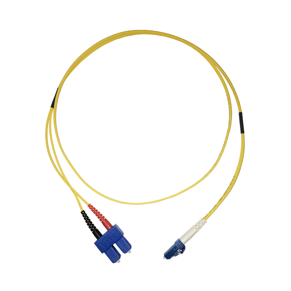 Videk 3182B-2 2m LC SC OS1/OS2 Yellow fiber optic cable