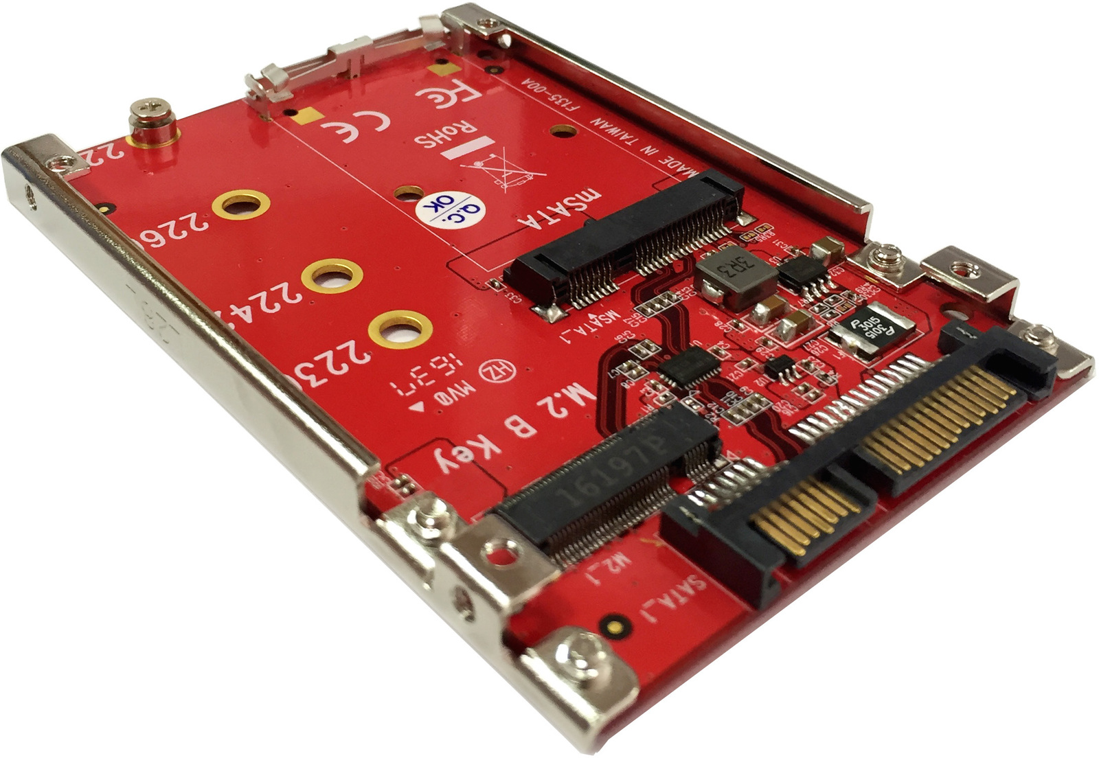 "LyCOM mSATA or M.2 SATA SSD to 2.5"" 7mm SATA Drive - Approx 1-3 working day lead."