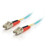 C2G 85555 15m LC LC Turquoise fiber optic cable