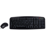 TechZone TZ16COMB02-ALA USB Negro teclado