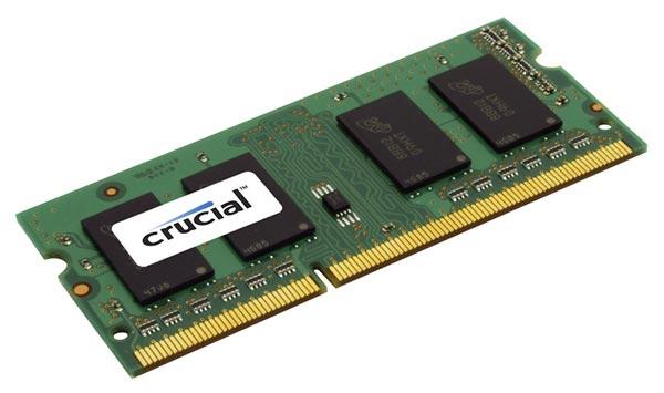 Crucial 4GB DDR3-1600 SO-DIMM CL11 4GB DDR3 1600MHz memory module