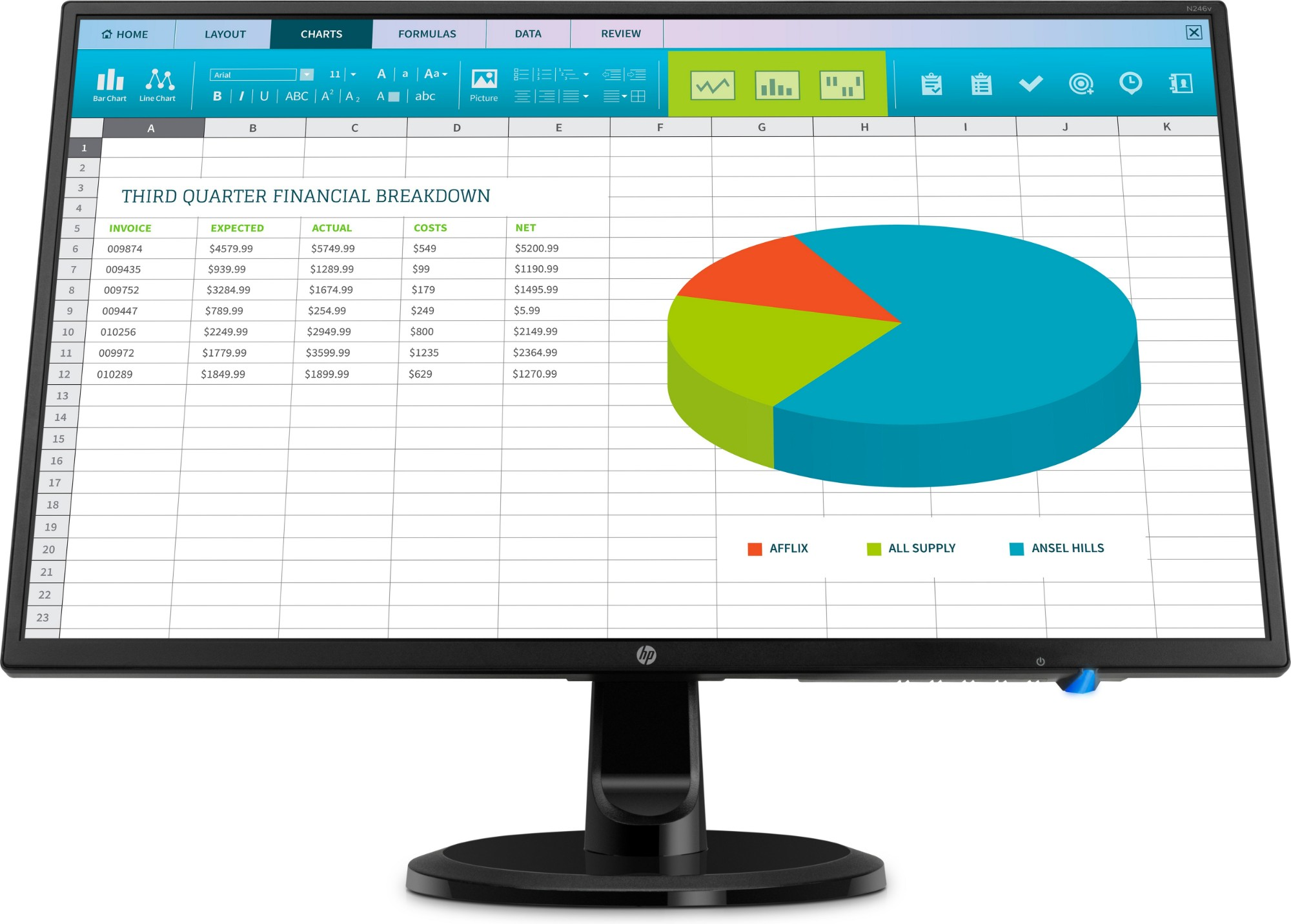 LED monitor - N246v - 23.8in