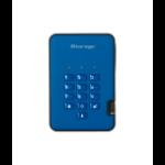 iStorage diskAshur 2 500GB Blue external hard drive