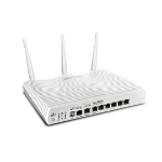 DRAYTEK VDSL/ADSL Router/Firewall & 6 Port Gigabit Switch with 802.11b/g/n/ac Wireless LAN and dual-band sim