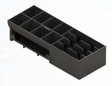 APG Cash Drawer 20266PAC bandeja para cajón portamonedas ABS sintéticos Negro