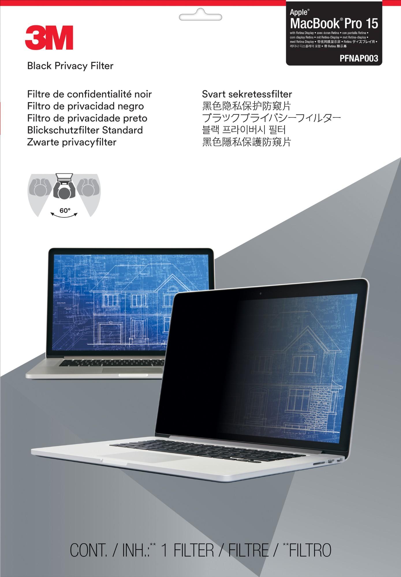 "3M PFNAP003 Frameless display privacy filter 39.1 cm (15.4"")"