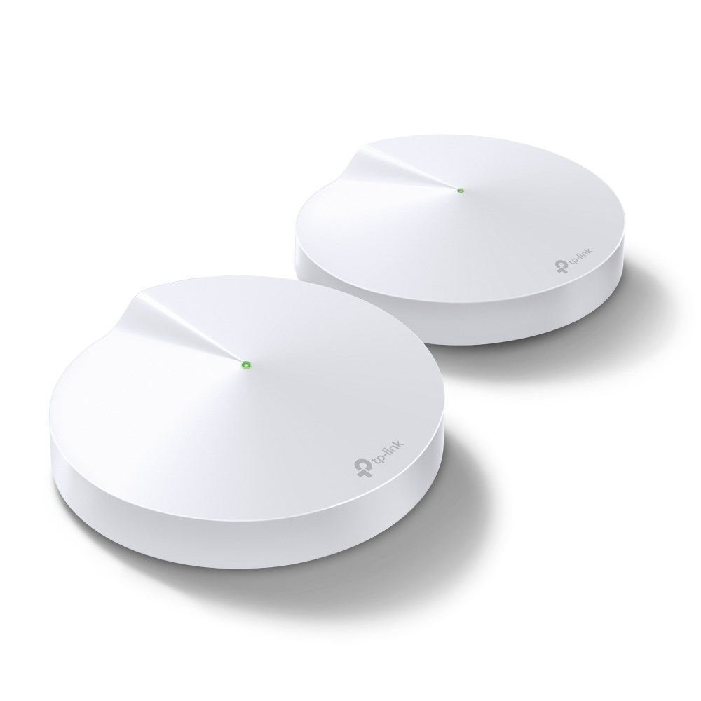 TP-LINK Deco M5 (2-pack) Whole-Home Mesh Wi-Fi 1300Mbps Router Built-In Antivirus Security Coverage 1300sqm