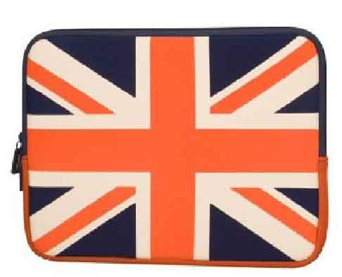 Urban Factory 12-Inch Neopren Flag Notebook Sleeve Case - UK Flag (FLG01UF)