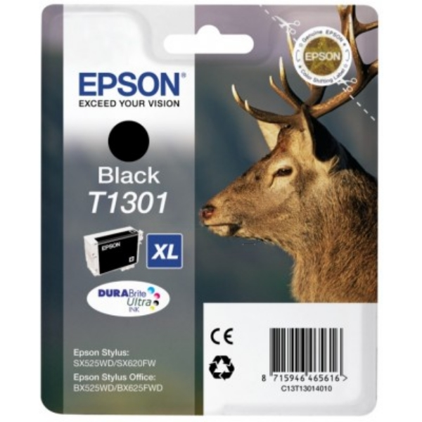 Epson C13T13014010 (T1301) Ink cartridge black, 945 pages, 25ml