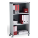 FastPaper Fast Paper Mobile 3 Compartment Bookcase Grey/Charcoal DD