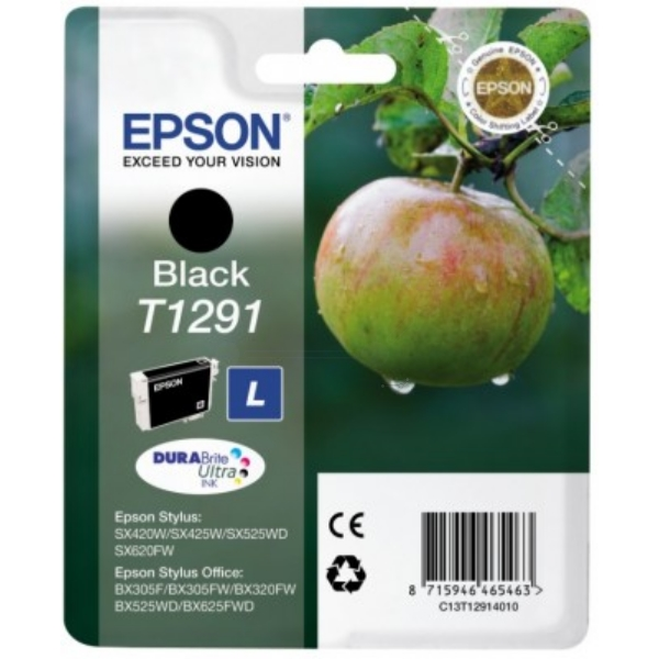 Epson C13T12914012 (T1291) Ink cartridge black, 380 pages, 11ml