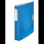 Leitz WOW ring binder A4 Blue, Metallic