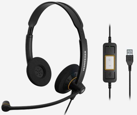 Sennheiser SC 60 USB ML Binaural Head-band Black