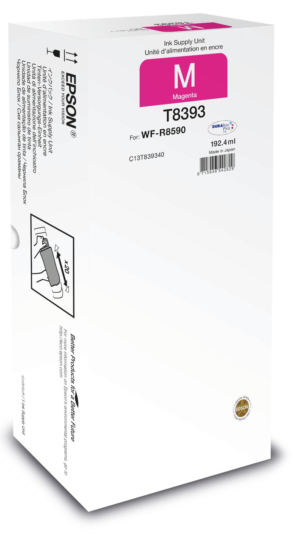 Epson Unidad de suministro de tinta T8393 magenta XL
