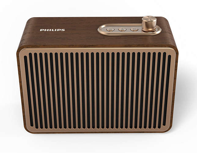 Philips TAVS500/00 portable speaker 10 W Mono portable speaker Gold,Wood