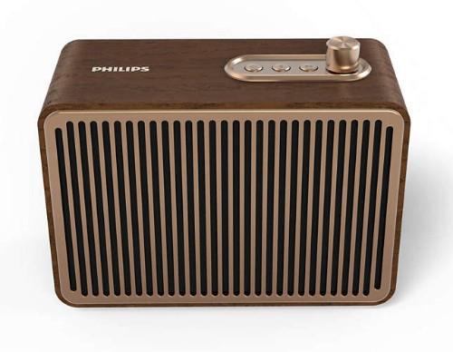 Philips TAVS500/00 portable speaker 10 W Mono portable speaker Gold,Wood