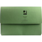 Q-CONNECT Q CONNECT DOCUMENT WALLET FC GREEN