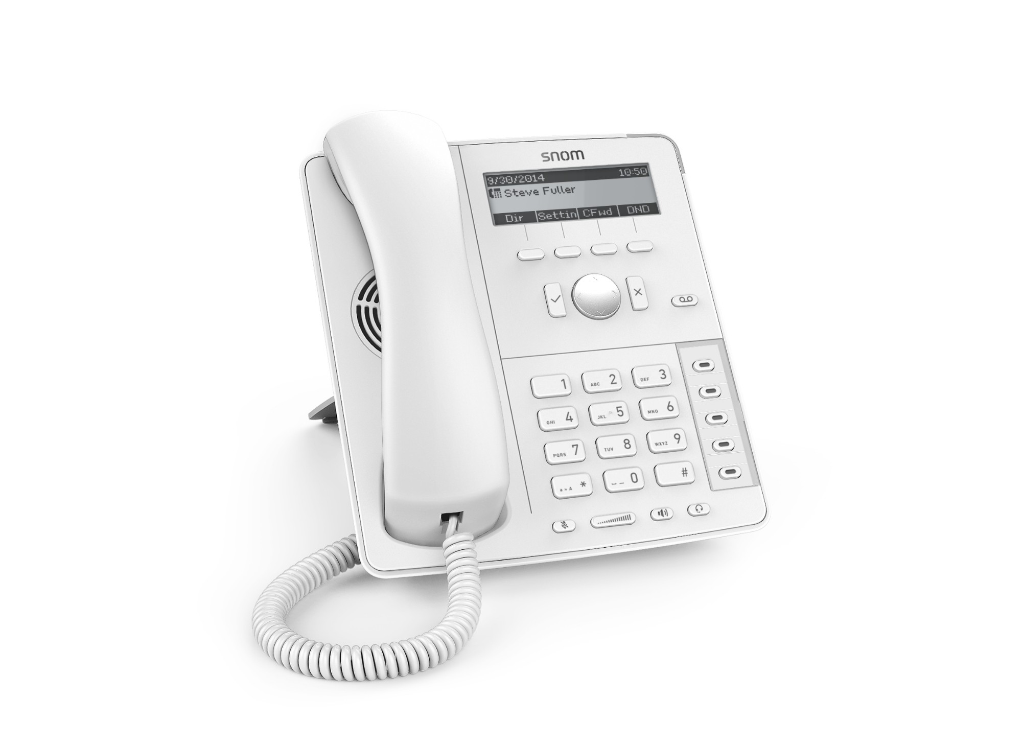D715 Analog Telephone White Caller Id