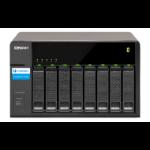"""QNAP TX-800P HDD enclosure 2.5/3.5"""" Zwart opslagbehuizing"""