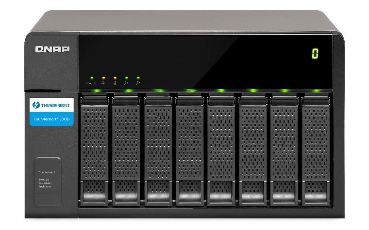 """QNAP TX-800P HDD enclosure 2.5/3.5"""" Black HDD/SSD enclosure"""