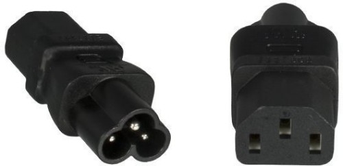 Microconnect PE613AD power plug adapter C6 C13 Black