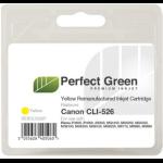 Perfect Green CLI526YCOMP Yellow ink cartridgeZZZZZ], CLI526YCOMP