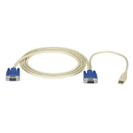 "Black Box EHN9000U-0010 KVM cable 118.1"" (3 m) White"