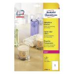 Avery L7784-25 printer label Transparent Non-adhesive printer label