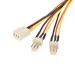 StarTech.com Cable de 30cm multiplicador divisor de alimentación TX3 para Ventiladores