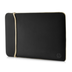 "HP Reversible Neoprene notebook case 39.6 cm (15.6"") Sleeve case Black,Gold"