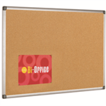 Bi-Office Maya Cork Notice Board Alu Frame 180x120cm DD