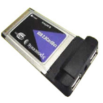Dynamode 2 Port Firewire PCMCIA Adapter 400Mbit/s networking card